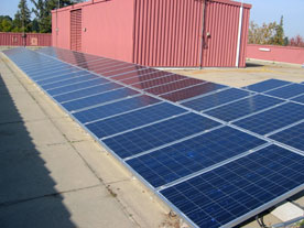 Photo of PV system at Sacramento City College