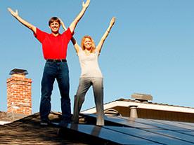 Driller Residence Solar Roof Installation