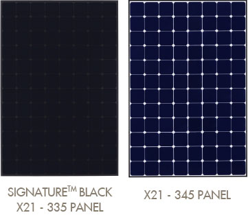 SunPower X21 Solar PV Panels