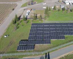 Commercial Solar Panels installed by Valley Solar at Dancing Coyote Winery
