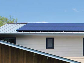 The SunPower X20 Solar Panel with attached microinverter