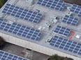 Aerial view of St. Francis High School Solar Installation by Valley Solar, Inc.