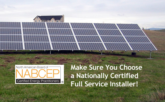 Make Sure You Choose a Nationally Certified Full Service Installer!