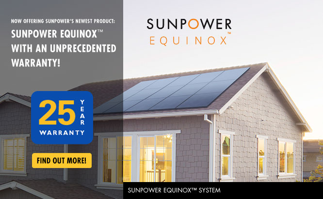 Valley Solar Sunpower Equinox - 25 year warranty