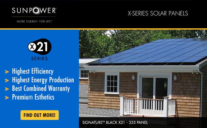 Valley Solar Heating and Air: SunPower X-Series Solar Panels