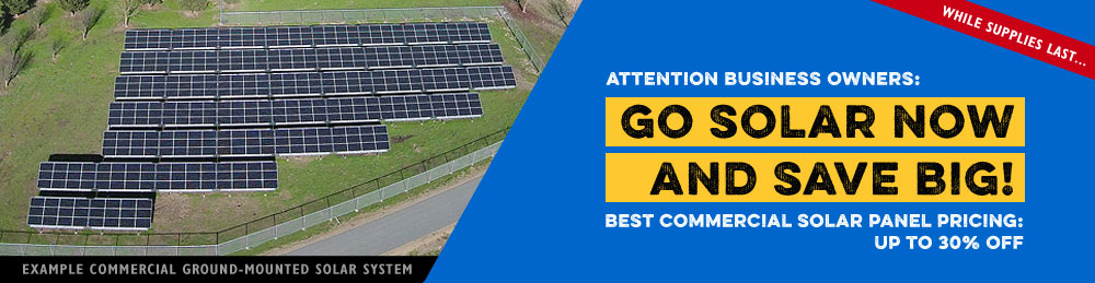 Special Solar Discount for Business Owners